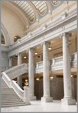 Columns & Stairs - Utah State Capitol Building