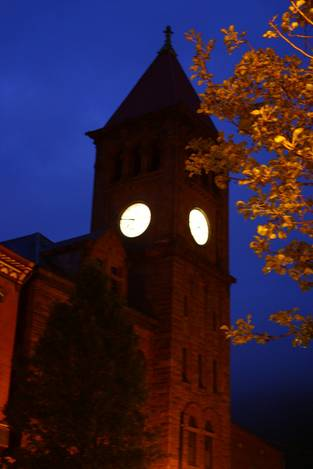 The old clock tower in Jim Thorpe PA.