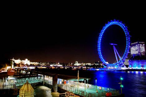 Blue Night in London
