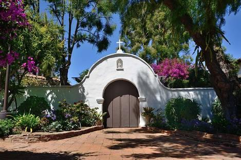 San Diego de Alcala garden door