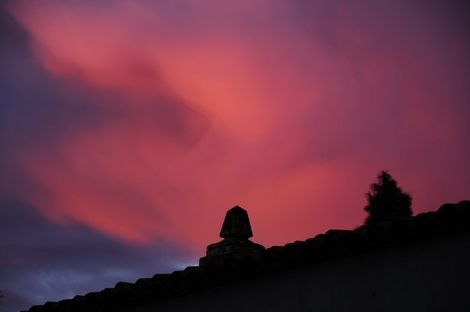 Sunset over Spanish Village