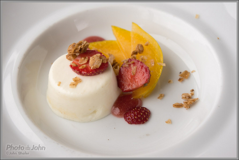 Beautiful Panna Cotta With Granola