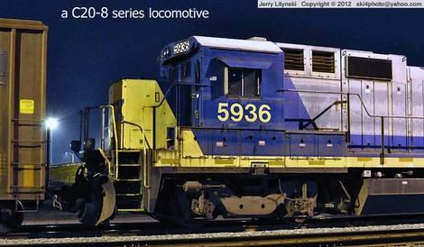 One old CSX locomotive