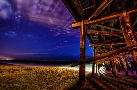 Star Trail at Newport Beach