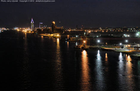 A Mobile River scene (at night)