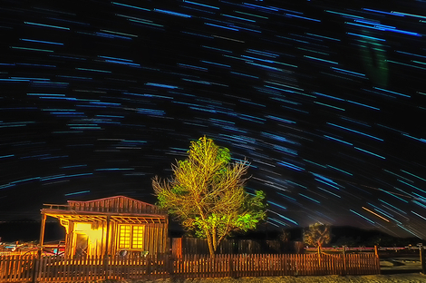 Startrails over Pioneertown California