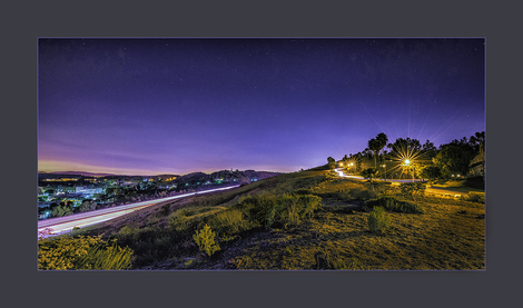 Blue hour of 10 Freeway San Dimas, CA