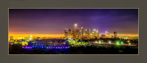 LA Downtown with Dedger Stadium