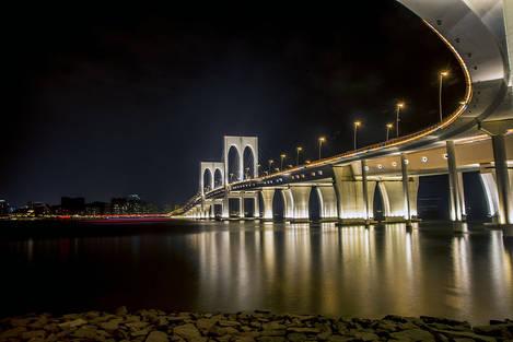 A bridge at night 1