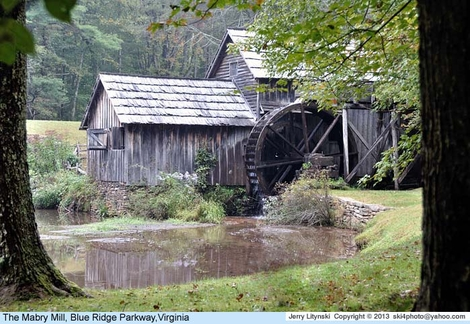One view of the old Mabry Mill