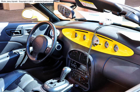 A 1999 Plymouth Prowler's dashboard