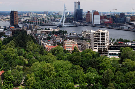 Rotterdam-view east from the Euromast