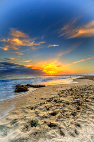 Pacific Ocean Sunset ~ HDR