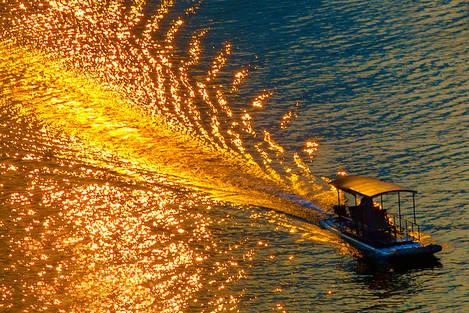 Burning raft