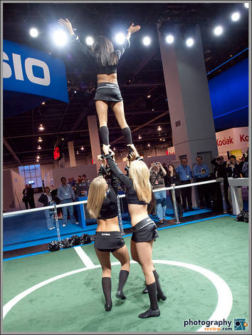 UNLV Cheerleaders At Casio Booth