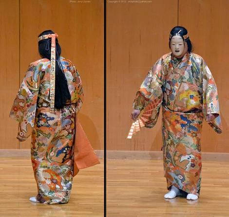 A Noh dance performer