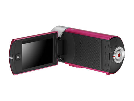 Captivating Pink Samsung Camcorder Q10 - Back side