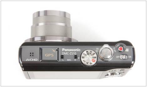 Panasonic Lumix ZS10 - Top
