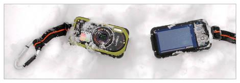 Pentax Optio W90 In The Snow