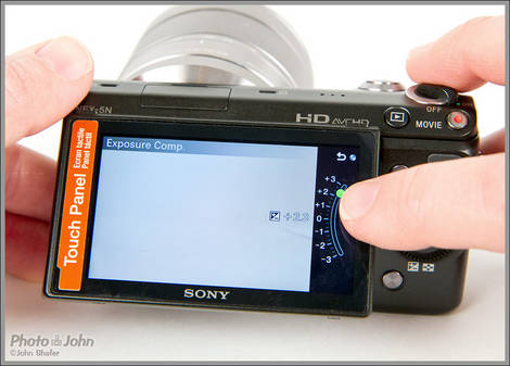 Sony NEX-5N - Touchscreen LCD Display
