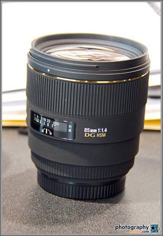 New Sigma 85mm f/1.4 Lens