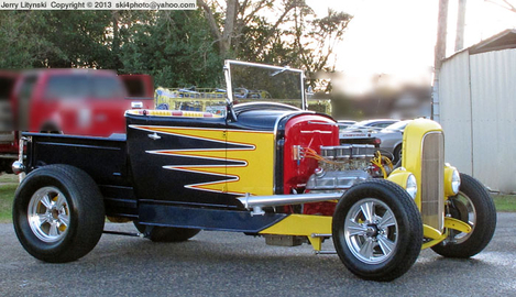 One Ford street rod