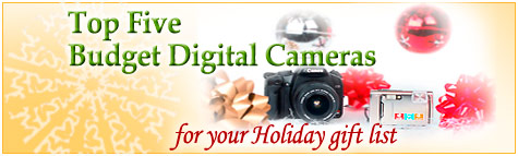 Budget Holiday Digital Camera Guide